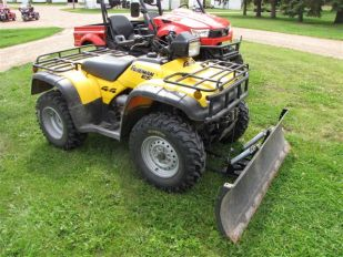 2004 Honda TRX450ES 4x4 with plow setup