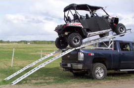 Aluminum Over-Box/Over-Cab  Riser Unit for 4-seater UTVs