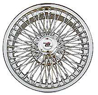 "Chrome 15"" Wire 72-Spoke Wheel"