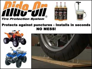 Ride-On Tire Protection System