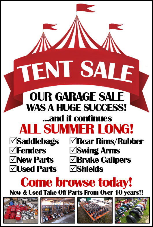 2018 Motorcycle Parts & Accessories Tent Sale