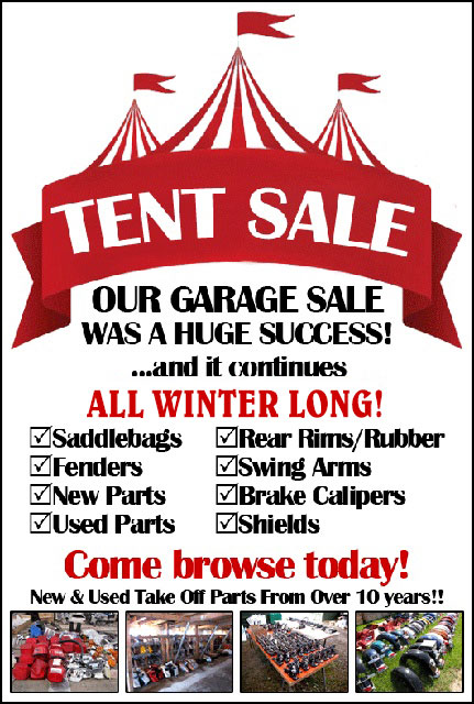 2019 Motorcycle Parts & Accessories Tent Sale