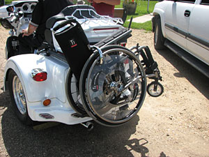 Harley Davidson Ultra Classic Trike with Wheelchair Modification