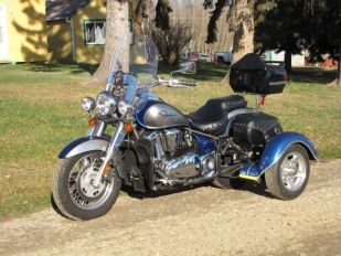 2008 Kawasaki Vulcan 900 Classic LT with Towpac Clip on Conversion
