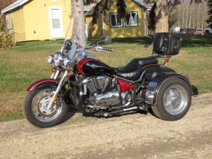 2008 Kawasaki Vulcan 900 Classic LT with Voyager Clip on Conversion
